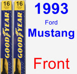 Front Wiper Blade Pack for 1993 Ford Mustang - Premium