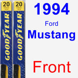 Front Wiper Blade Pack for 1994 Ford Mustang - Premium