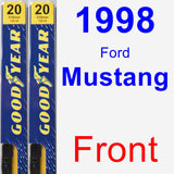 Front Wiper Blade Pack for 1998 Ford Mustang - Premium