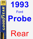 Rear Wiper Blade for 1993 Ford Probe - Premium