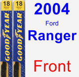 Front Wiper Blade Pack for 2004 Ford Ranger - Premium