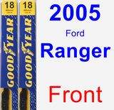 Front Wiper Blade Pack for 2005 Ford Ranger - Premium