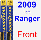 Front Wiper Blade Pack for 2009 Ford Ranger - Premium