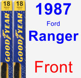 Front Wiper Blade Pack for 1987 Ford Ranger - Premium