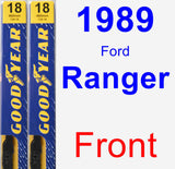 Front Wiper Blade Pack for 1989 Ford Ranger - Premium