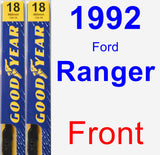 Front Wiper Blade Pack for 1992 Ford Ranger - Premium