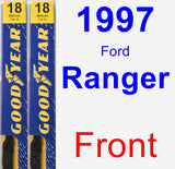 Front Wiper Blade Pack for 1997 Ford Ranger - Premium