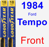 Front Wiper Blade Pack for 1984 Ford Tempo - Premium