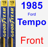 Front Wiper Blade Pack for 1985 Ford Tempo - Premium