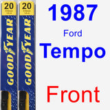 Front Wiper Blade Pack for 1987 Ford Tempo - Premium