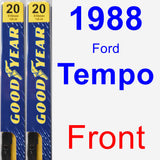Front Wiper Blade Pack for 1988 Ford Tempo - Premium