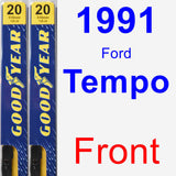 Front Wiper Blade Pack for 1991 Ford Tempo - Premium