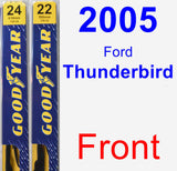 Front Wiper Blade Pack for 2005 Ford Thunderbird - Premium