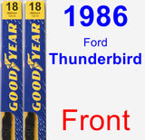 Front Wiper Blade Pack for 1986 Ford Thunderbird - Premium