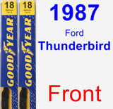 Front Wiper Blade Pack for 1987 Ford Thunderbird - Premium