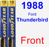 Front Wiper Blade Pack for 1988 Ford Thunderbird - Premium