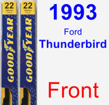 Front Wiper Blade Pack for 1993 Ford Thunderbird - Premium