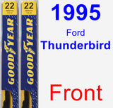 Front Wiper Blade Pack for 1995 Ford Thunderbird - Premium