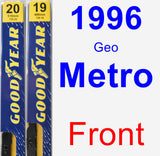 Front Wiper Blade Pack for 1996 Geo Metro - Premium