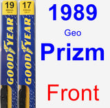 Front Wiper Blade Pack for 1989 Geo Prizm - Premium