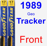 Front Wiper Blade Pack for 1989 Geo Tracker - Premium