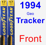 Front Wiper Blade Pack for 1994 Geo Tracker - Premium