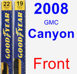 Front Wiper Blade Pack for 2008 GMC Canyon - Premium