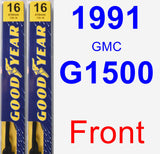 Front Wiper Blade Pack for 1991 GMC G1500 - Premium