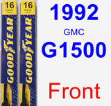 Front Wiper Blade Pack for 1992 GMC G1500 - Premium
