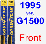 Front Wiper Blade Pack for 1995 GMC G1500 - Premium