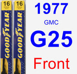 Front Wiper Blade Pack for 1977 GMC G25 - Premium