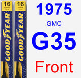 Front Wiper Blade Pack for 1975 GMC G35 - Premium