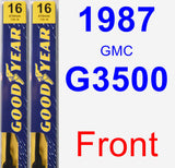 Front Wiper Blade Pack for 1987 GMC G3500 - Premium