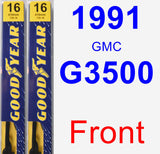 Front Wiper Blade Pack for 1991 GMC G3500 - Premium