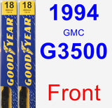 Front Wiper Blade Pack for 1994 GMC G3500 - Premium