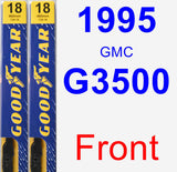 Front Wiper Blade Pack for 1995 GMC G3500 - Premium