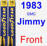 Front Wiper Blade Pack for 1983 GMC Jimmy - Premium