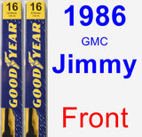 Front Wiper Blade Pack for 1986 GMC Jimmy - Premium