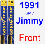 Front Wiper Blade Pack for 1991 GMC Jimmy - Premium