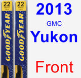 Front Wiper Blade Pack for 2013 GMC Yukon - Premium