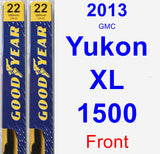 Front Wiper Blade Pack for 2013 GMC Yukon XL 1500 - Premium