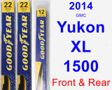 Front & Rear Wiper Blade Pack for 2014 GMC Yukon XL 1500 - Premium