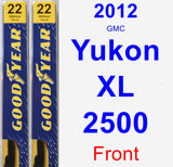 Front Wiper Blade Pack for 2012 GMC Yukon XL 2500 - Premium
