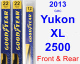 Front & Rear Wiper Blade Pack for 2013 GMC Yukon XL 2500 - Premium