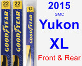 Front & Rear Wiper Blade Pack for 2015 GMC Yukon XL - Premium