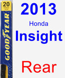 Rear Wiper Blade for 2013 Honda Insight - Premium