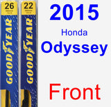 Front Wiper Blade Pack for 2015 Honda Odyssey - Premium