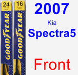 Front Wiper Blade Pack for 2007 Kia Spectra5 - Premium