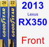 Front Wiper Blade Pack for 2013 Lexus RX350 - Premium