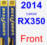 Front Wiper Blade Pack for 2014 Lexus RX350 - Premium